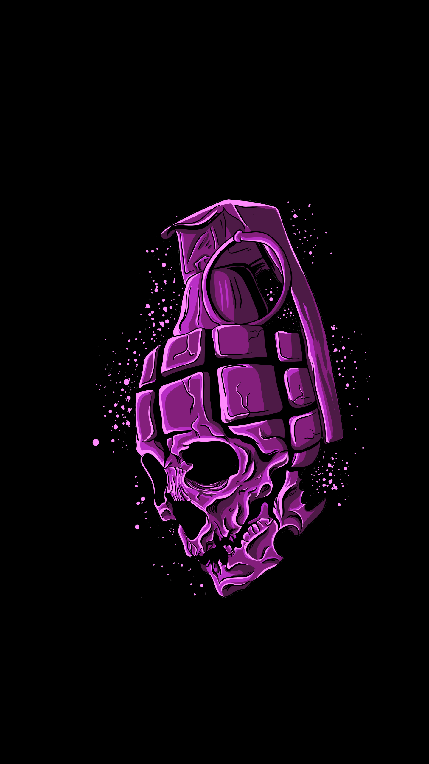 Grenade skull iPhone Wallpaper