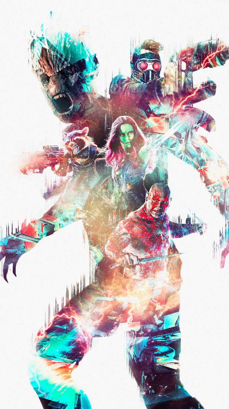 Guardians of the Galaxy Art iPhone Wallpaper