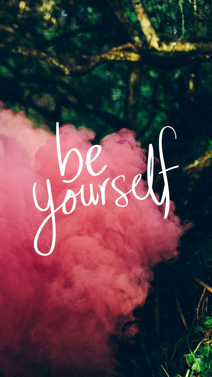 Inspirational Quotes Be Yourself iPhone Wallpaper