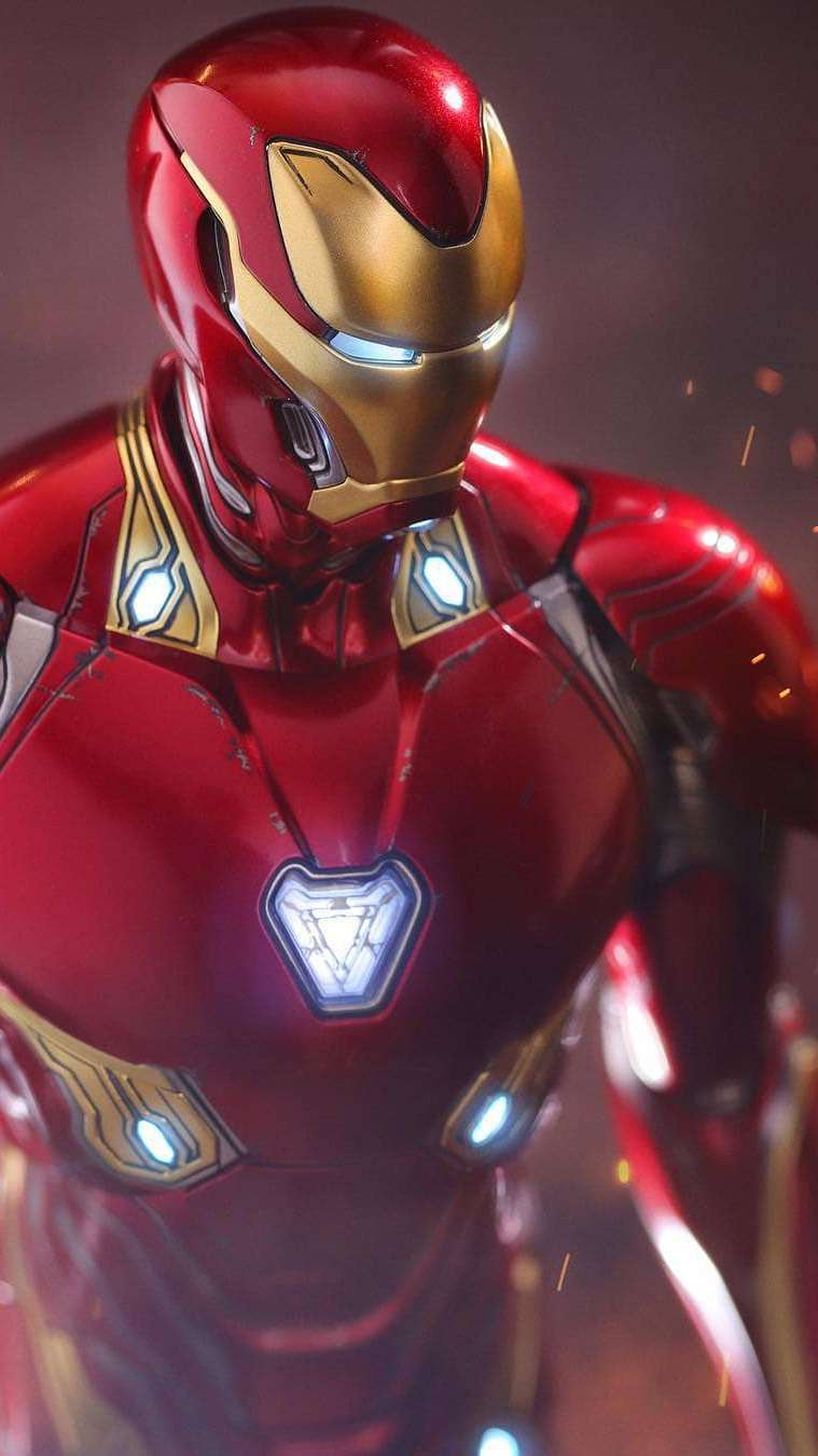 Iron Man Armor Red iPhone Wallpaper