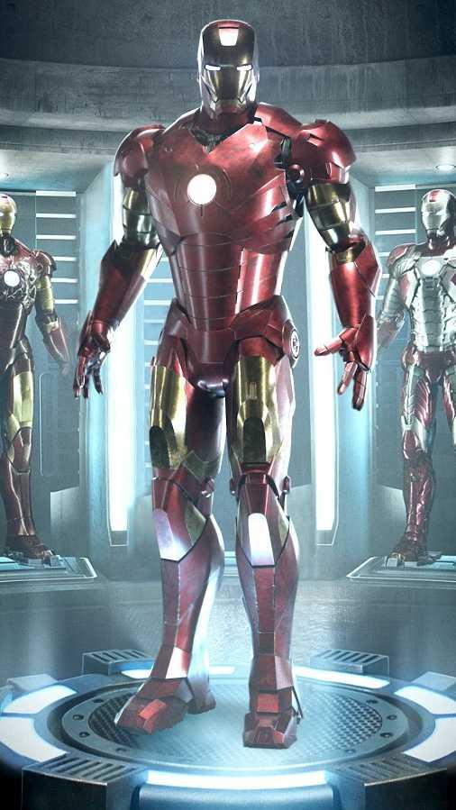 Iron Man Armor Station iPhone Wallpaper