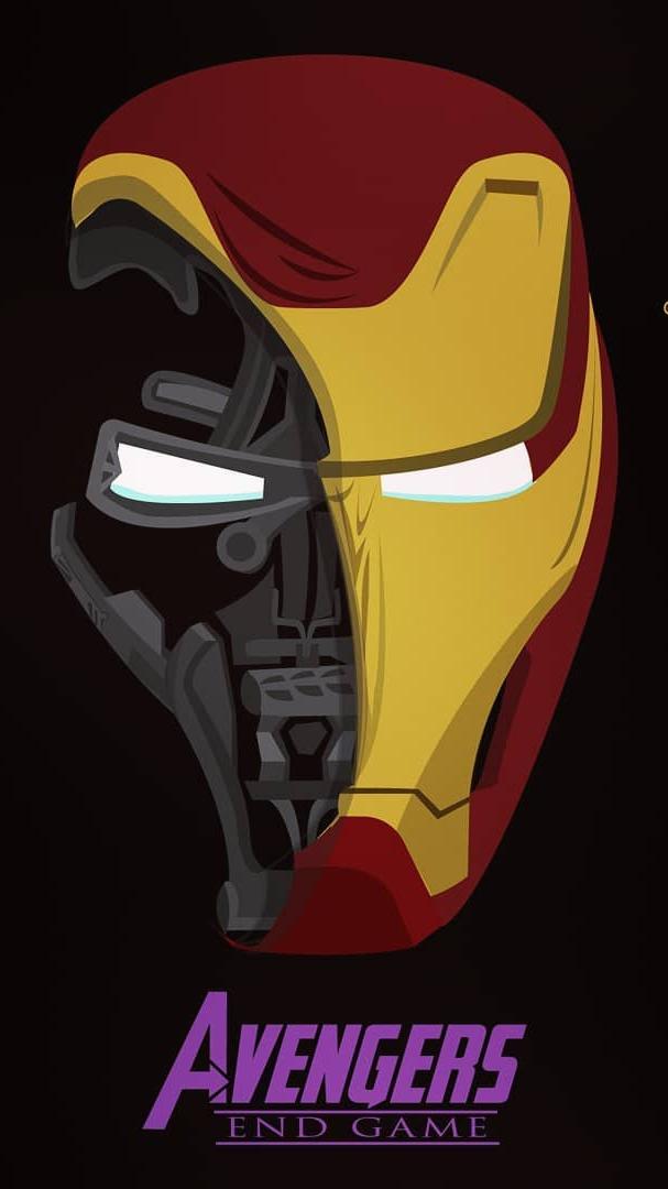 Iron Man Endgame Armor Art iPhone Wallpaper