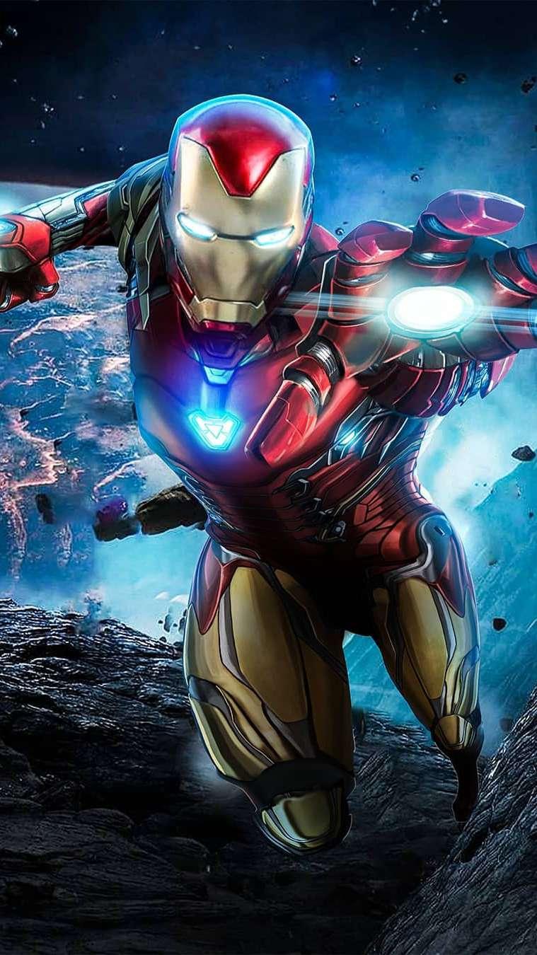 Iron Man Endgame Fight iPhone Wallpaper