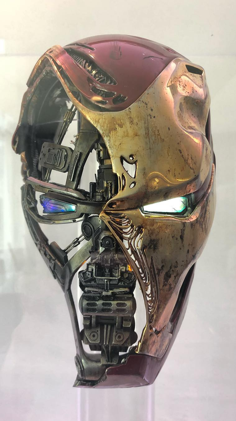 Iron Man Endgame Helmet iPhone Wallpaper