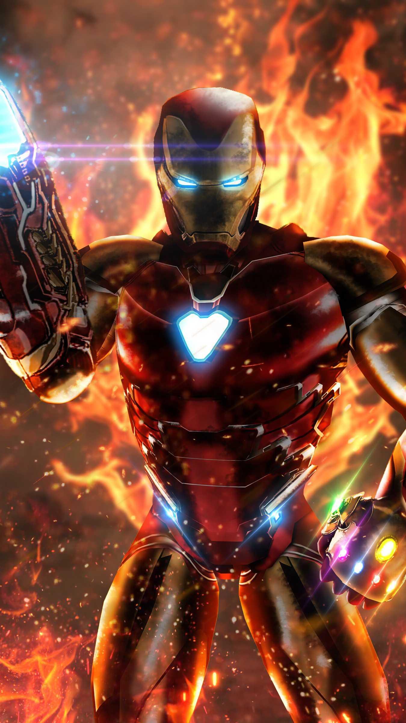 Iron Man Infinity Stone Weapon iPhone Wallpaper