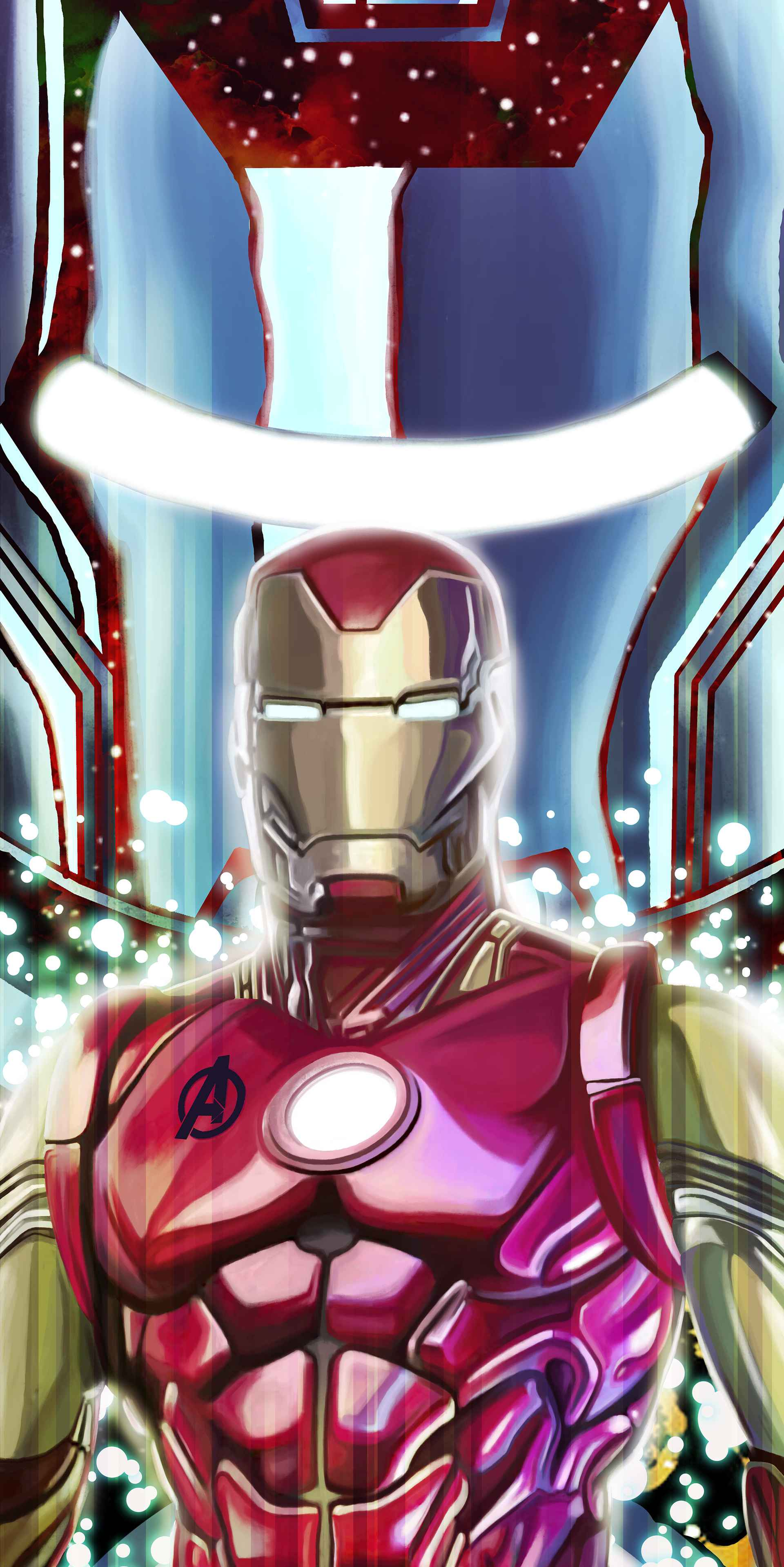 Iron Man Mark 85 Armor Art iPhone Wallpaper