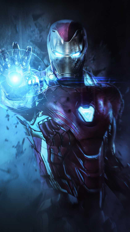 Iron Man Mark 85 Armor Avengers Endgame Iphone Wallpaper