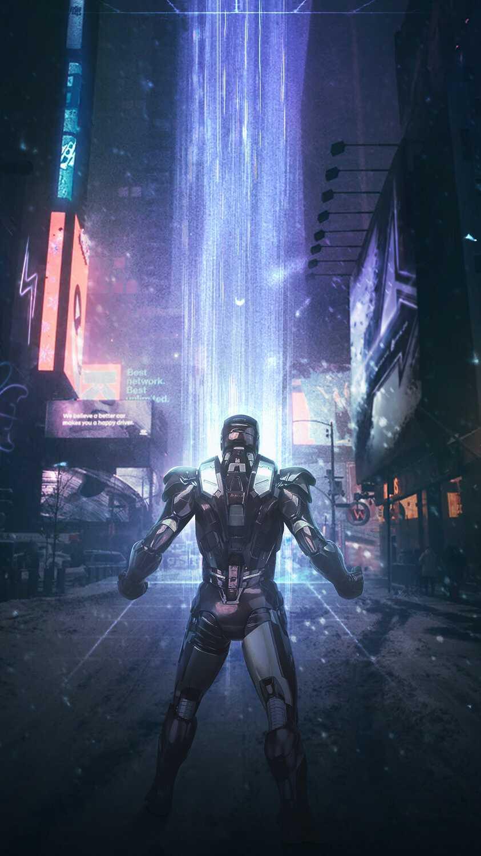 Iron Man New York Fight iPhone Wallpaper