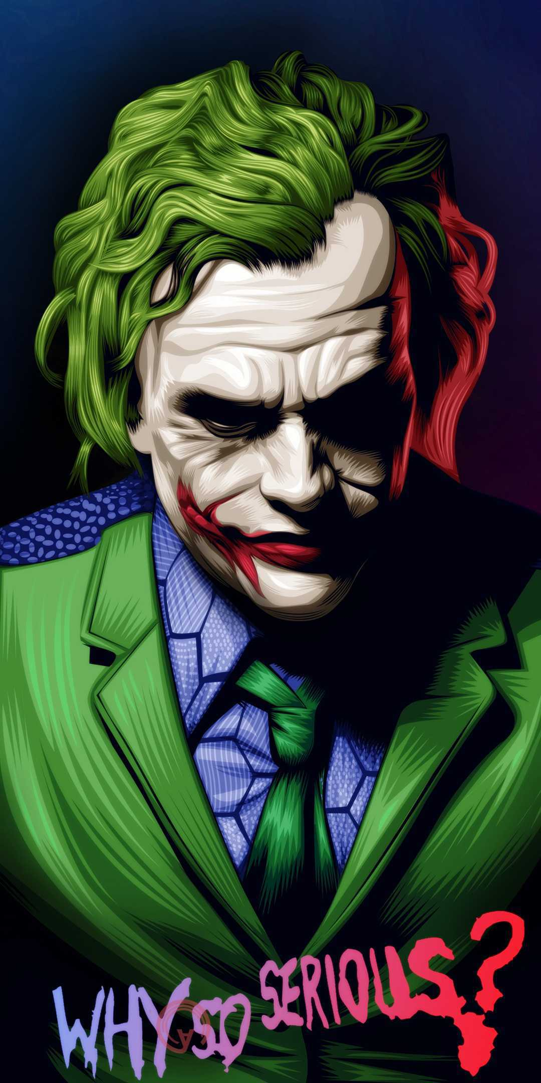 Joker Why so Serious iPhone Wallpaper
