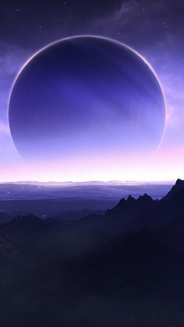 Jupiter from Moon iPhone Wallpaper