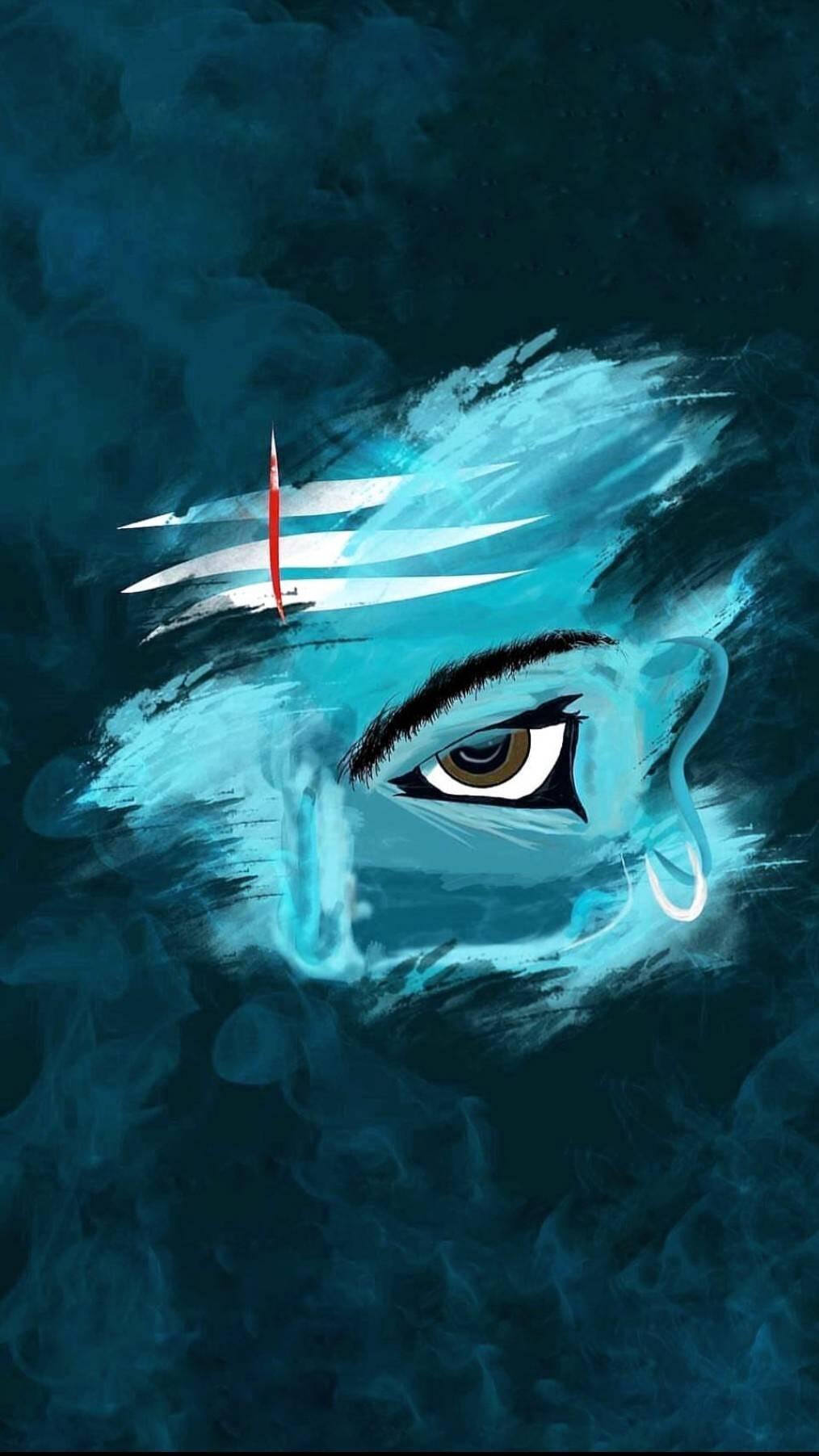 Lord Mahadev Art iPhone Wallpaper