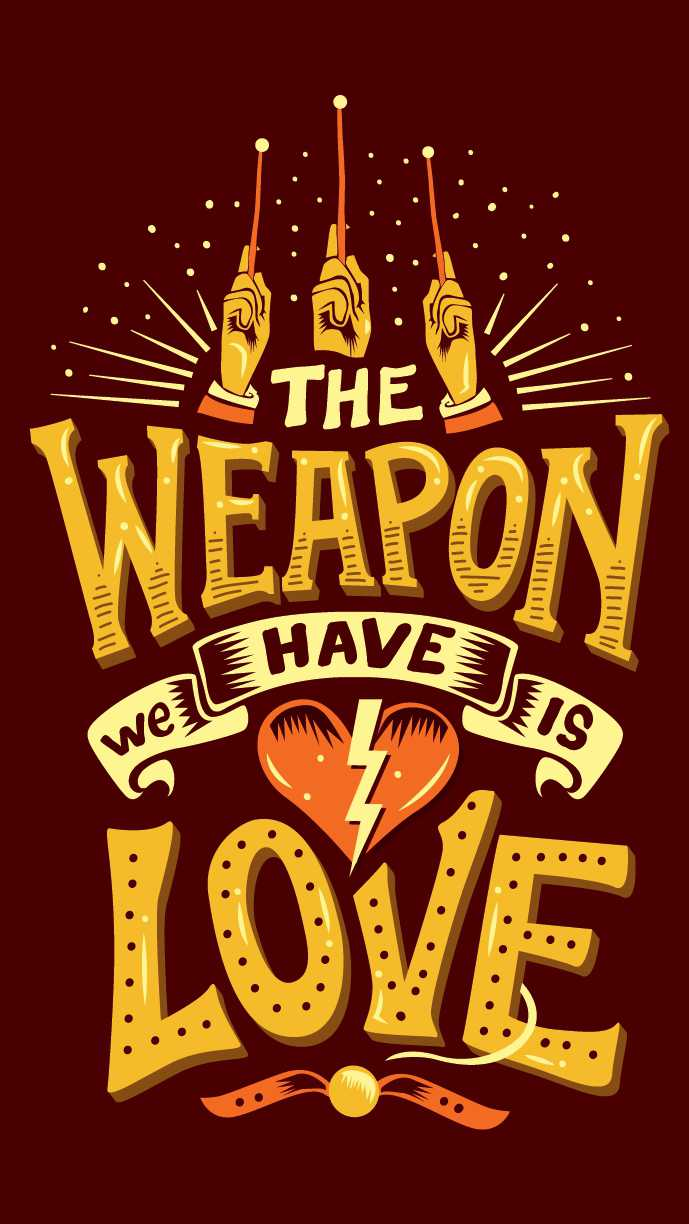 Love is Weapon iPhone Wallpaper