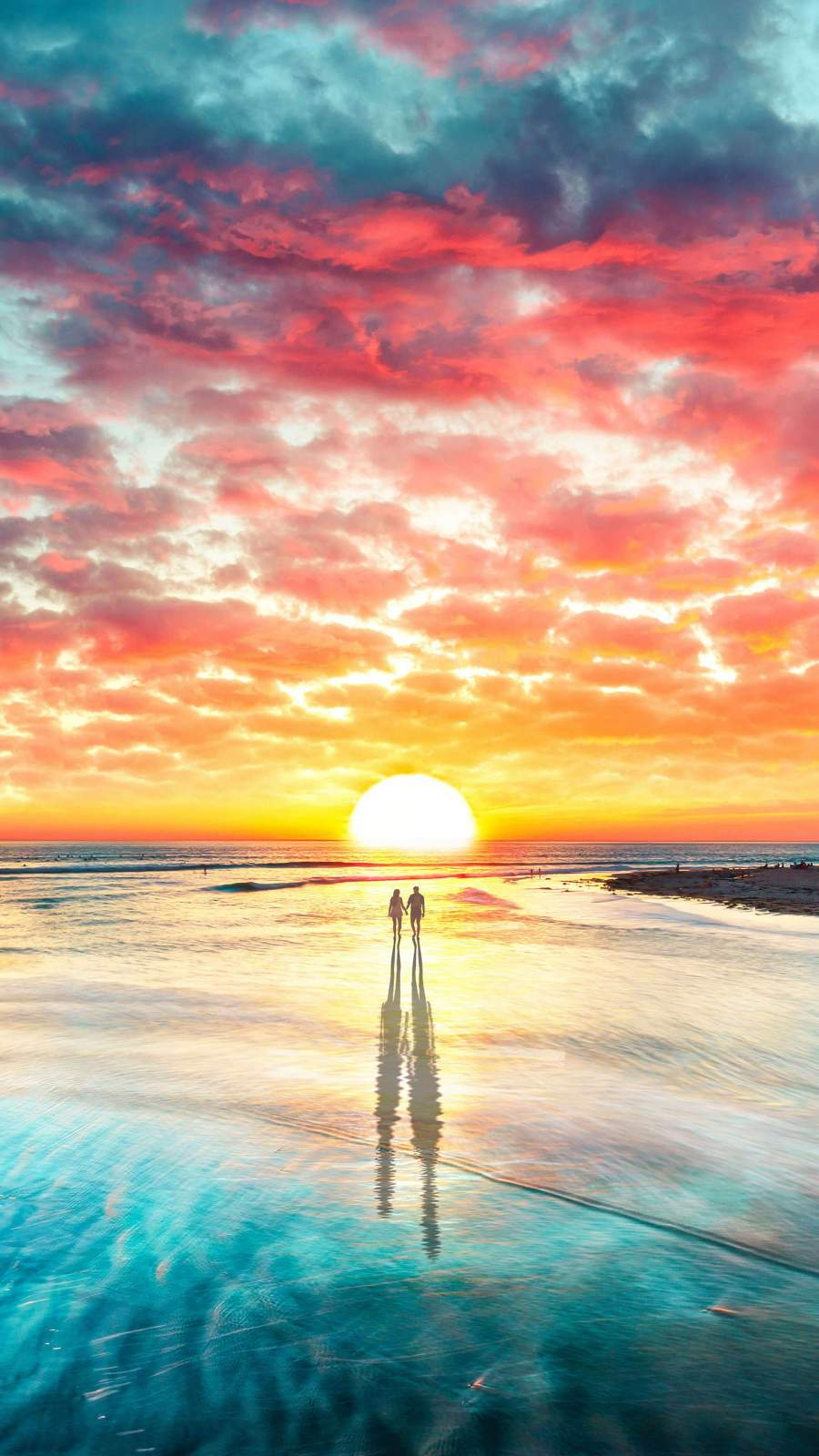 Lovers of the Sun iPhone Wallpaper
