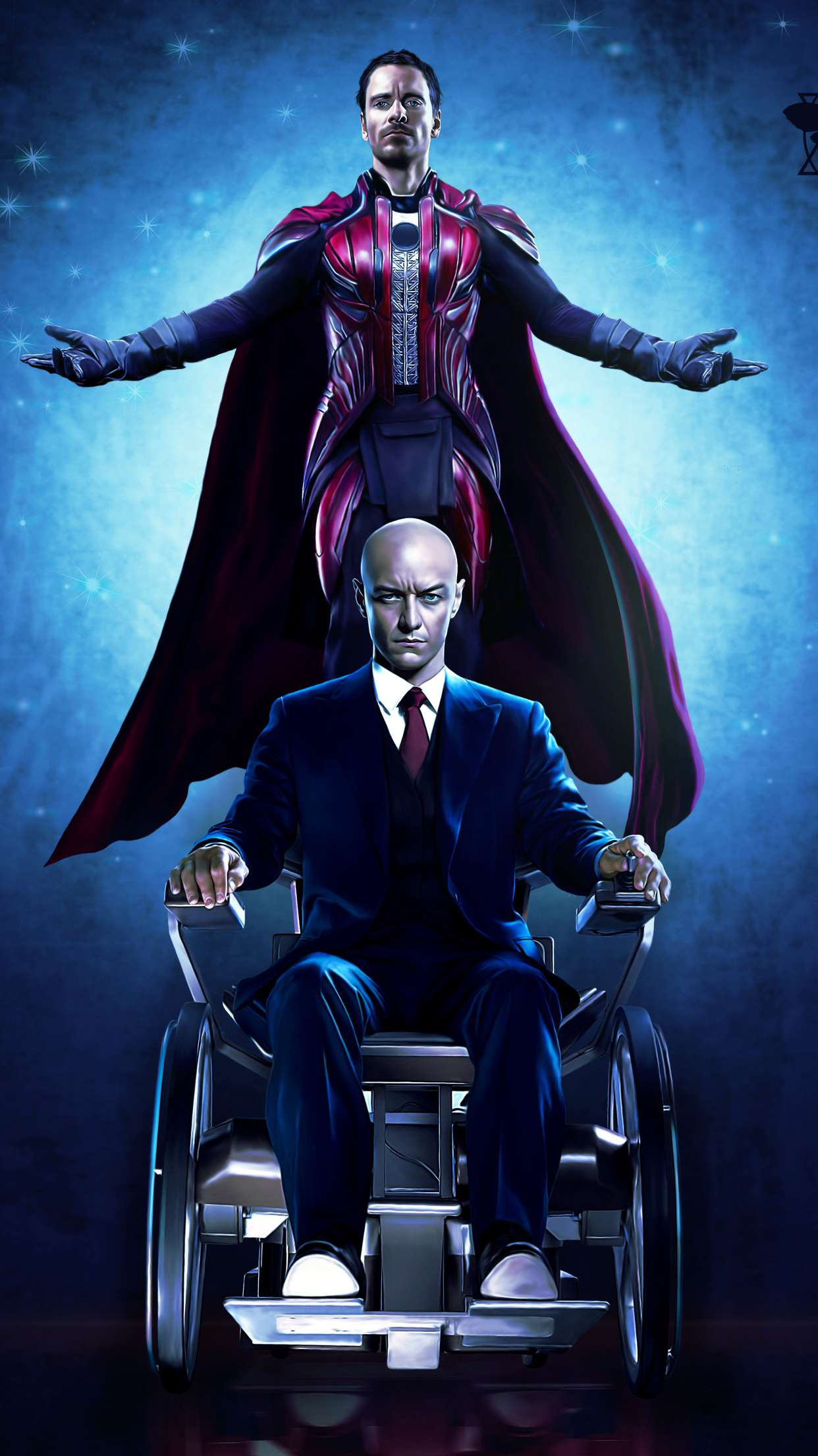Magneto with Professor X iPhone Wallpaper