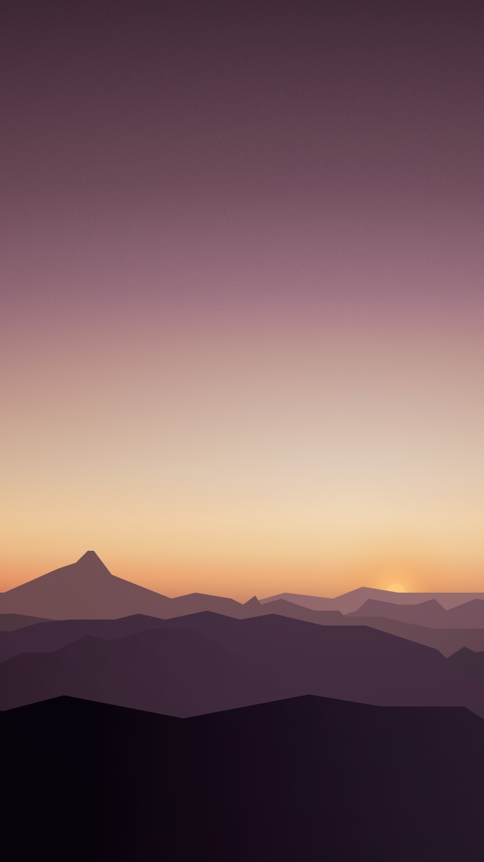 Mars Mountains Minimal iPhone Wallpaper