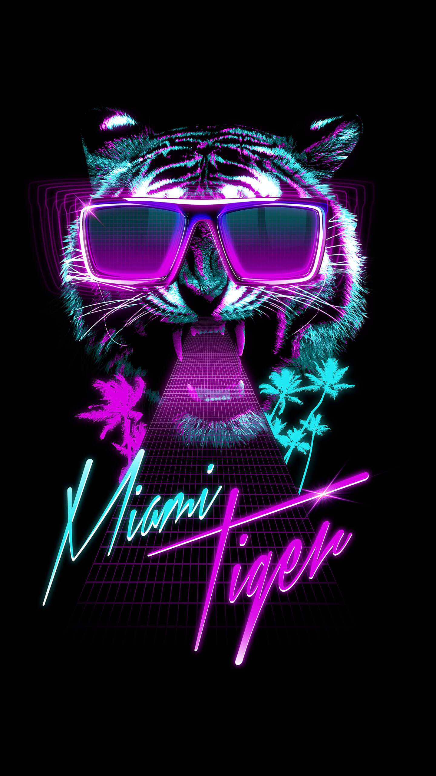 Miami Tiger iPhone Wallpaper