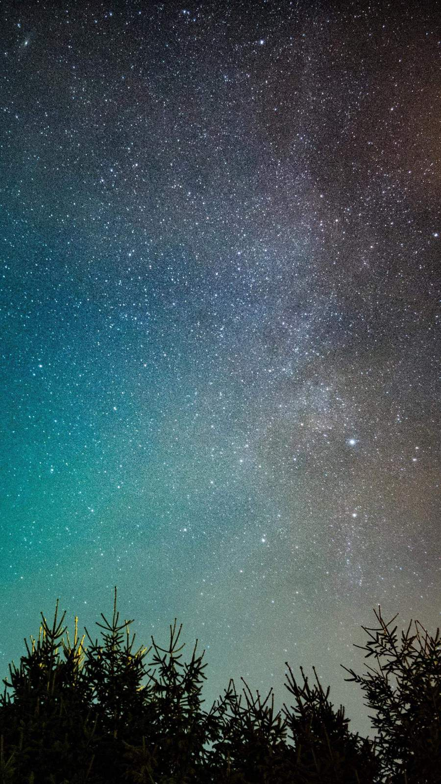 Milky way Galaxy from Nature iPhone Wallpaper