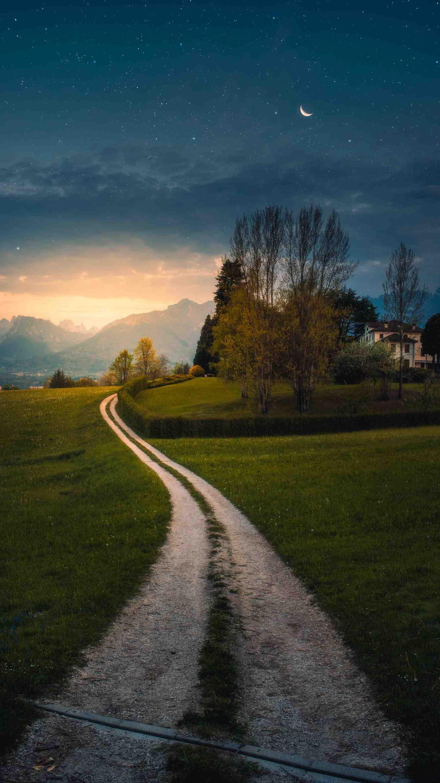 Nature Sunset Twilight iPhone Wallpaper