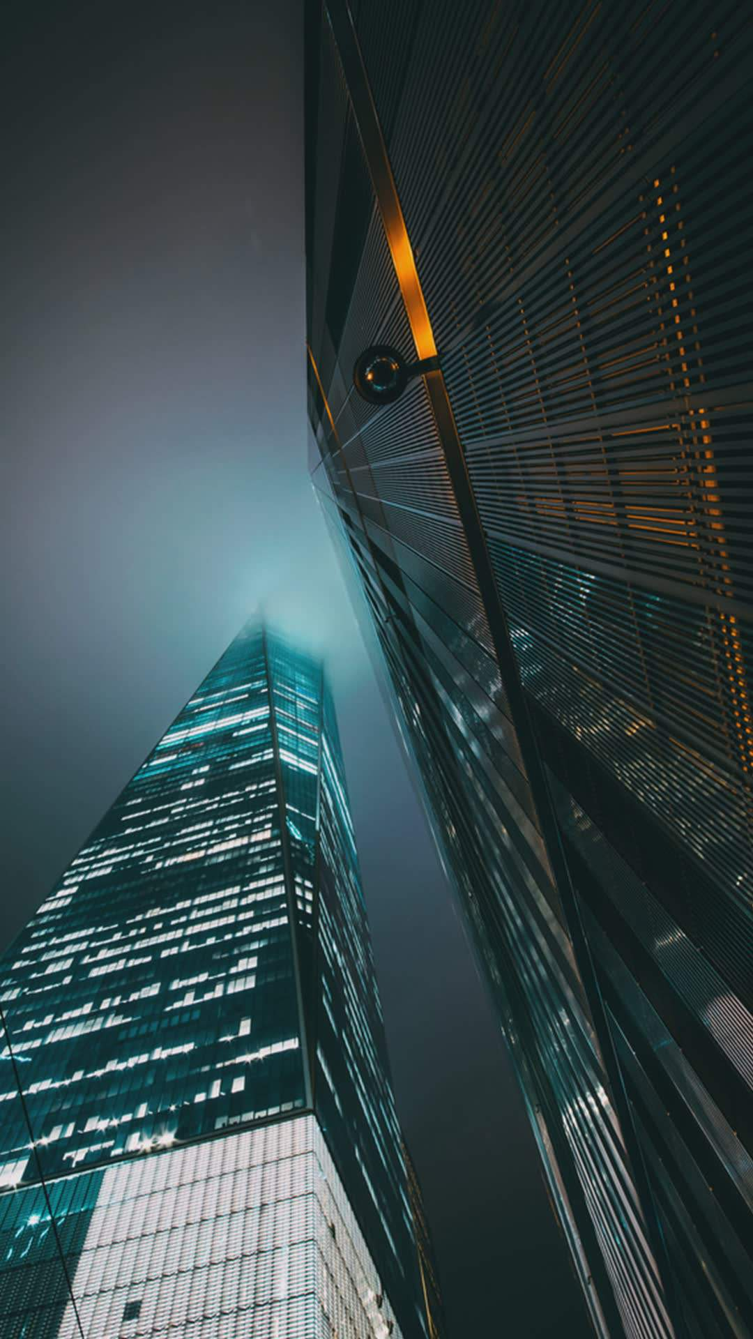 Night City Buildings iPhone Wallpaper