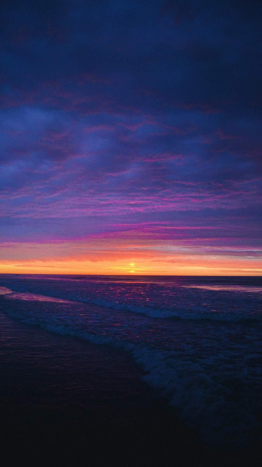 Ocean Horizon Sun iPhone Wallpaper