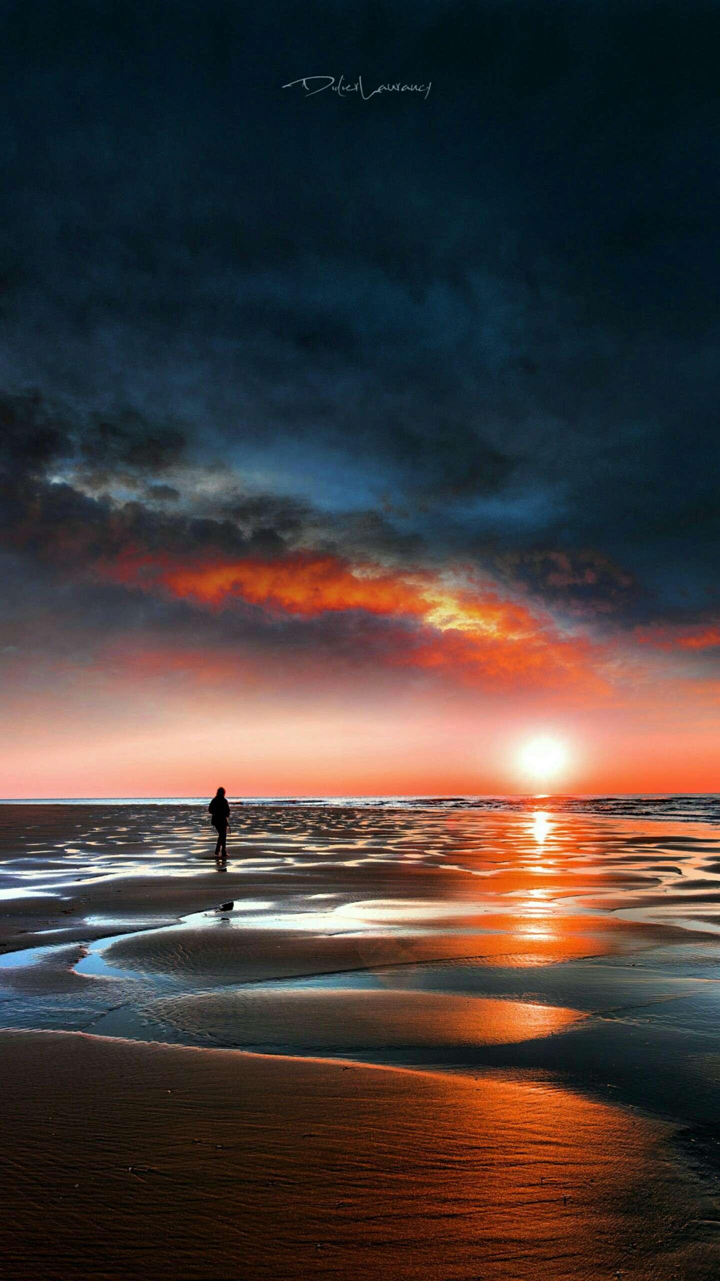 Ocean Horizon Sunset iPhone Wallpaper