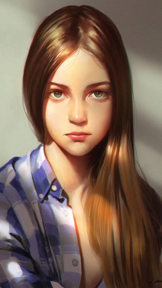 Portrait Girl Hot iPhone Wallpaper