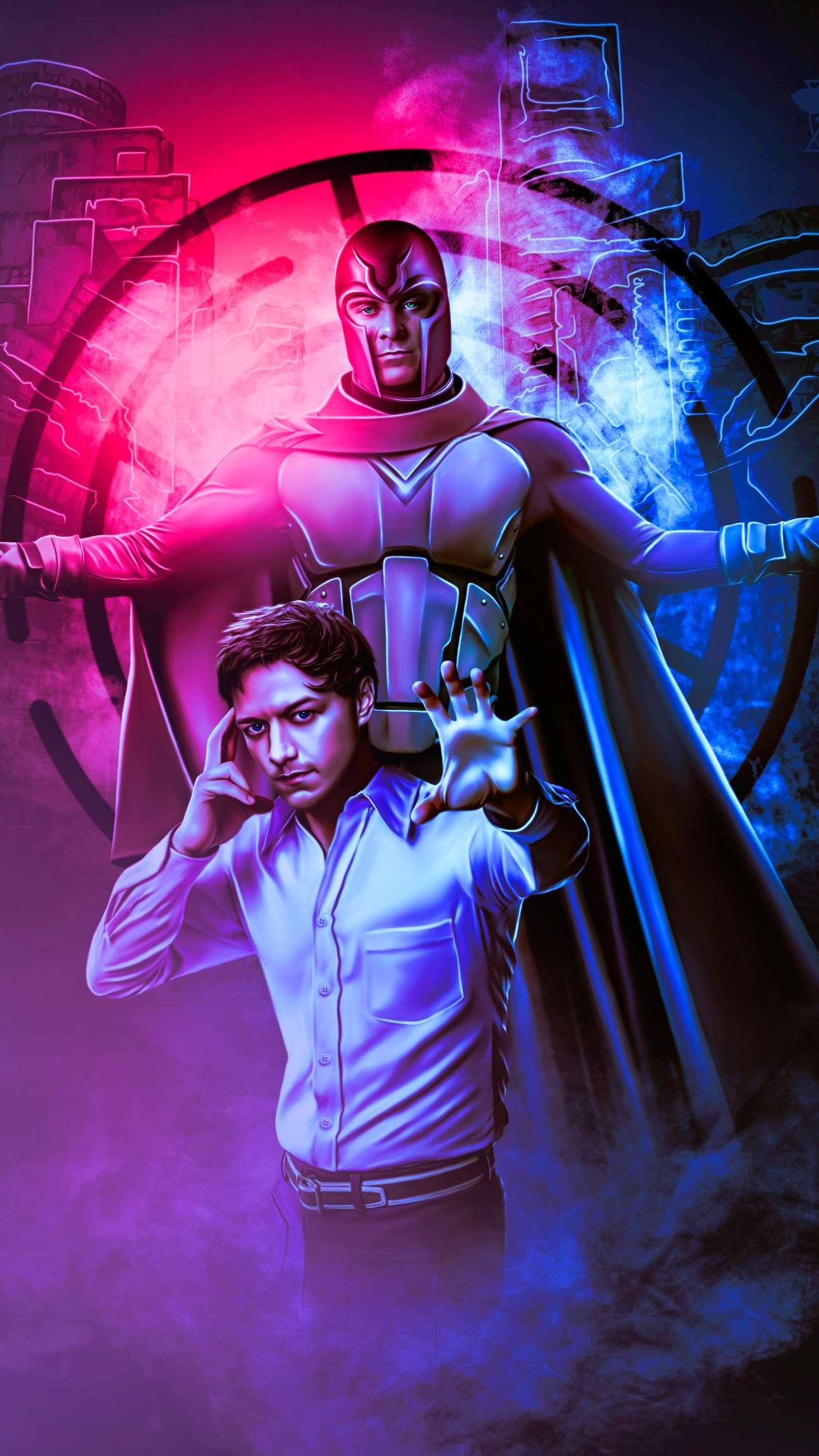 Professor X and Magneto iPhone Wallpaper