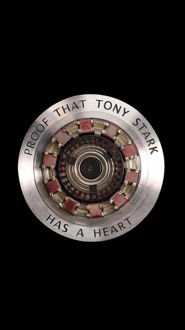 Proof That Tony Stark Has a Heart iPhone Wallpaper