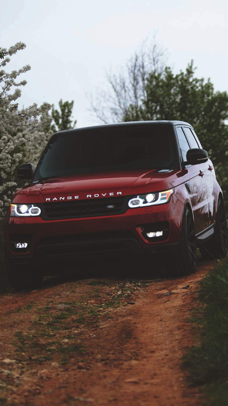 Red Range Rover iPhone Wallpaper