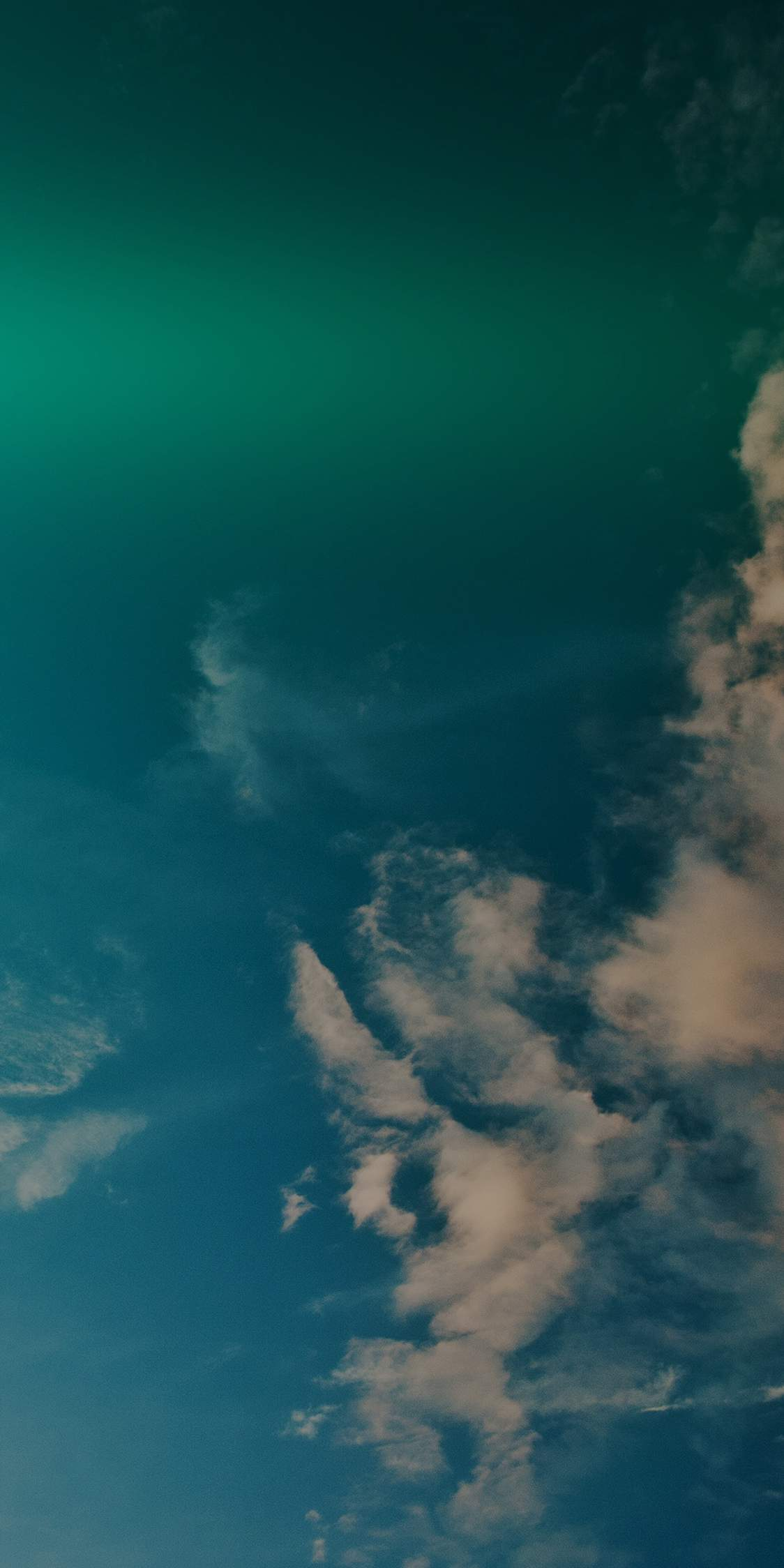 Sky Blue Green Cloud Sunny Clear Nature iPhone Wallpaper