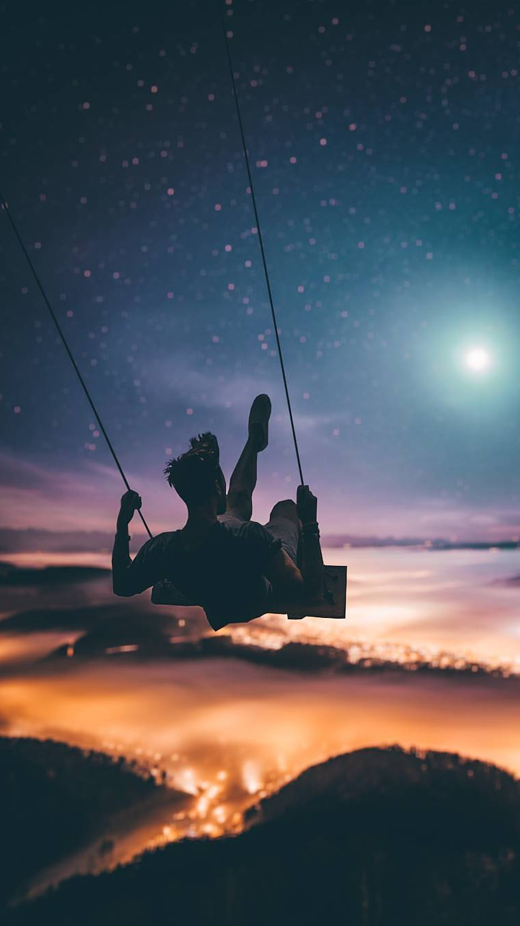 Sky Swing iPhone Wallpaper
