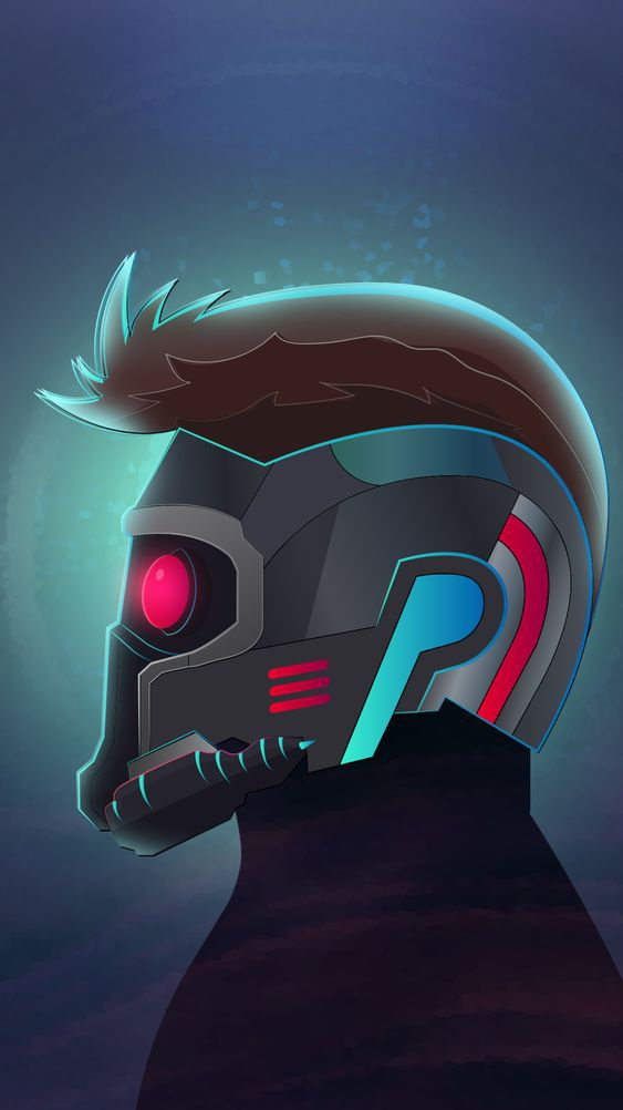 Star Lord Face Mask iPhone Wallpaper