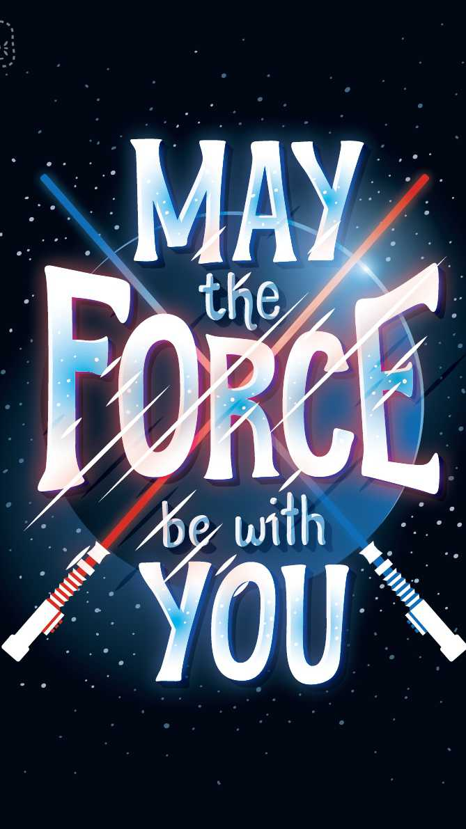 Star Wars May The Force Be With You iPhone Wallpaper
