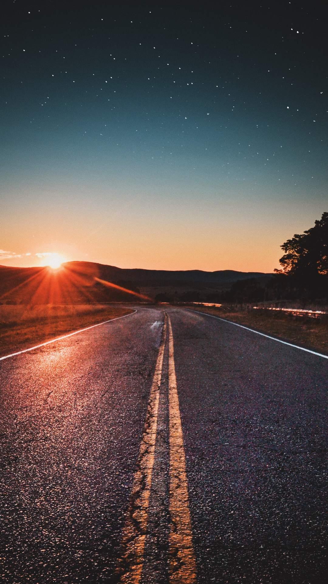 Sunrise Road iPhone Wallpaper