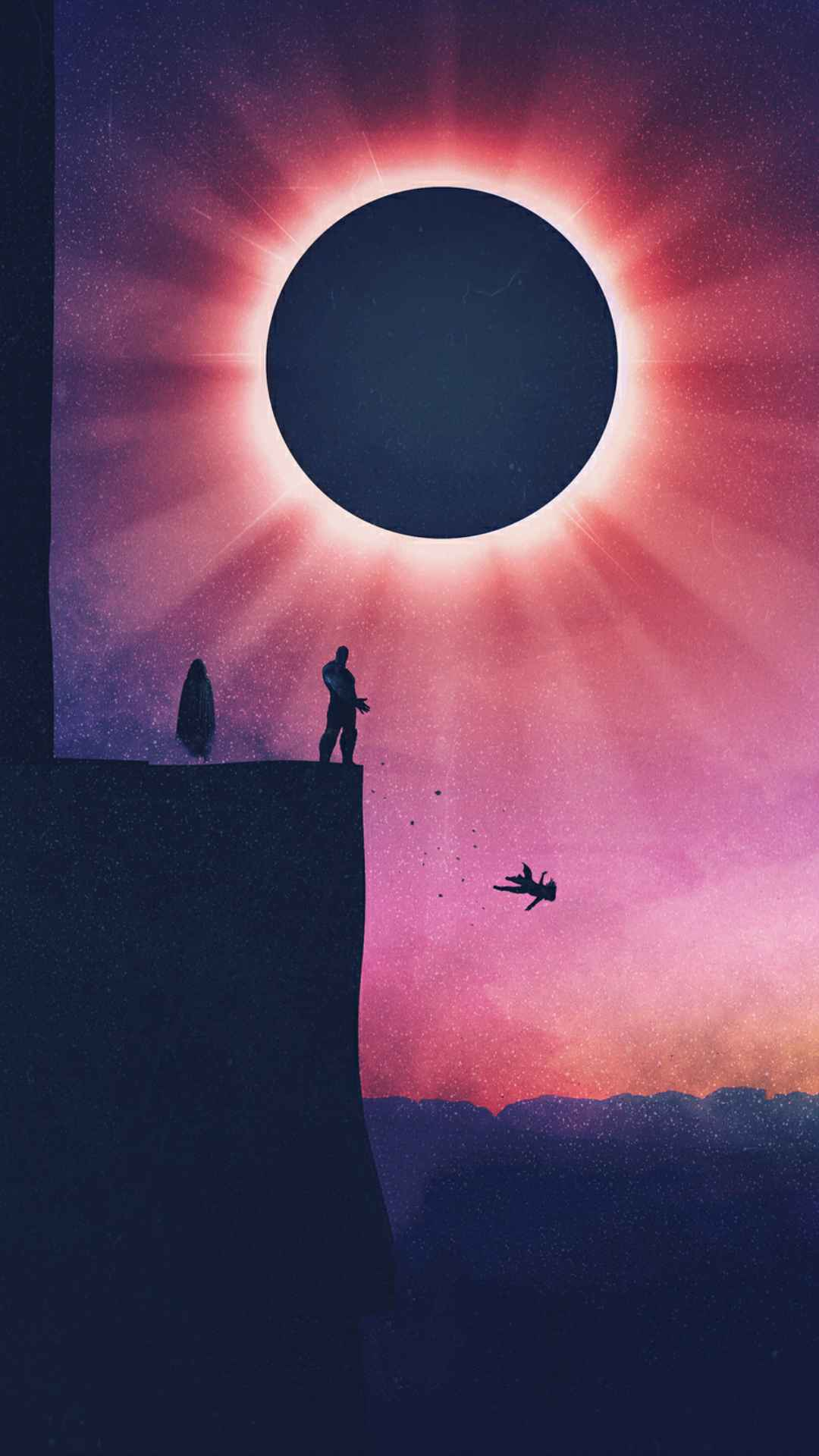 Thanos Kills Gamora iPhone Wallpaper