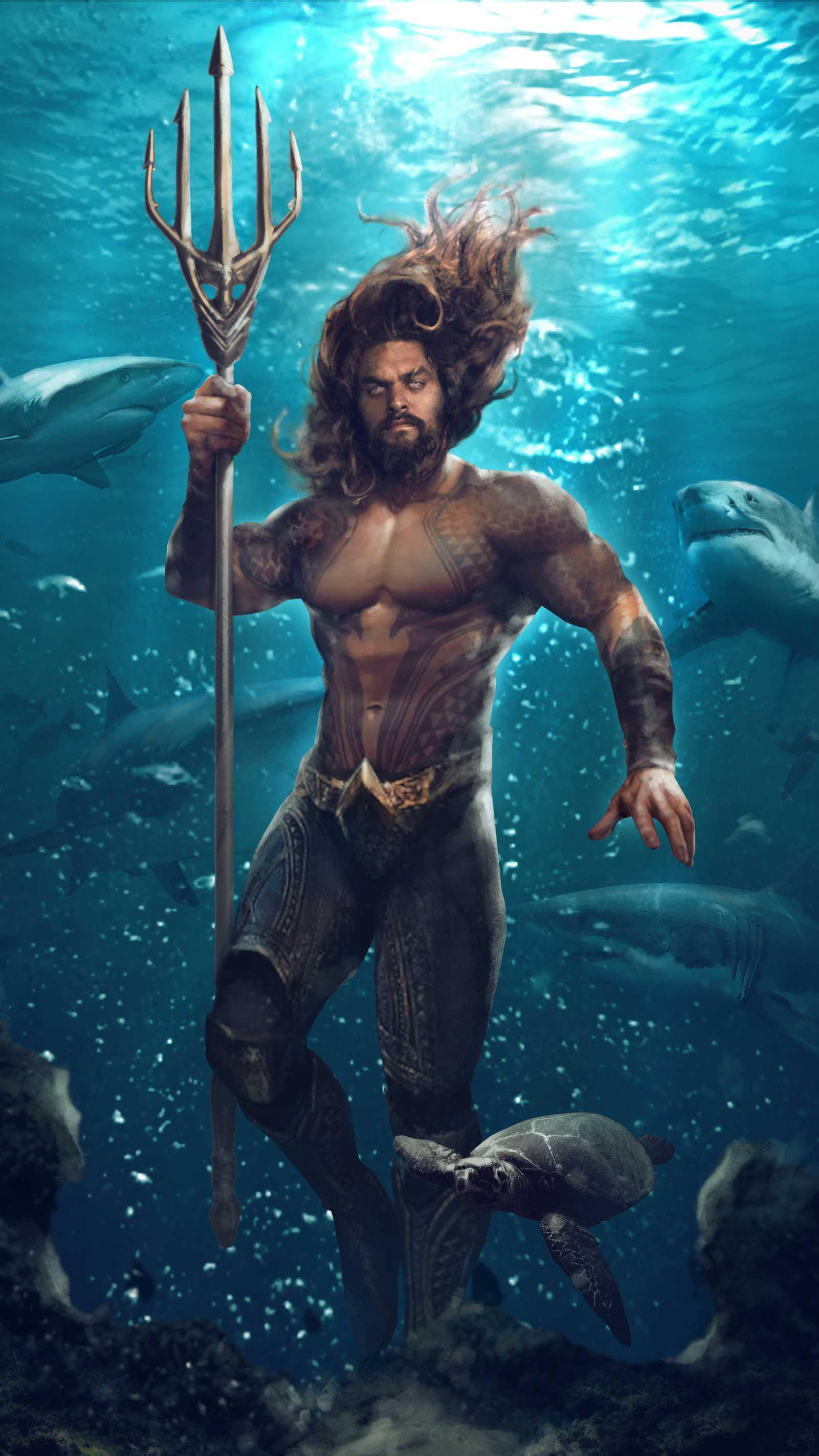 The Aquaman Ocean Master iPhone Wallpaper