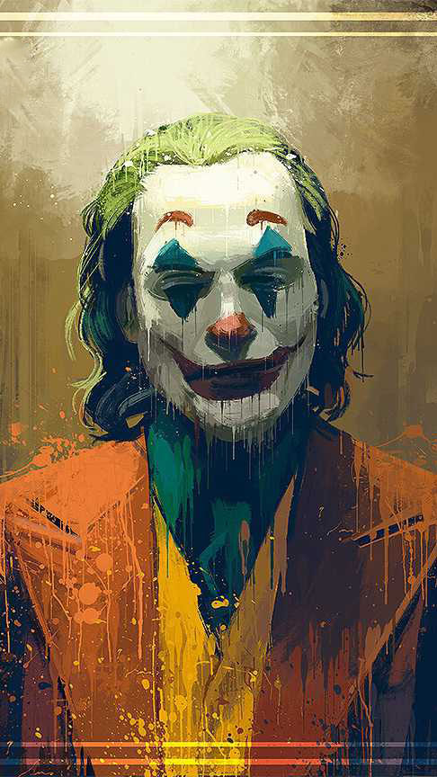 The Crazy Joker iPhone Wallpaper