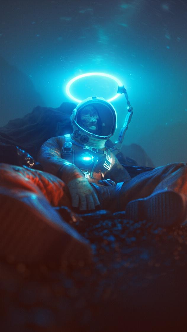 The Dead Astronaut iPhone Wallpaper