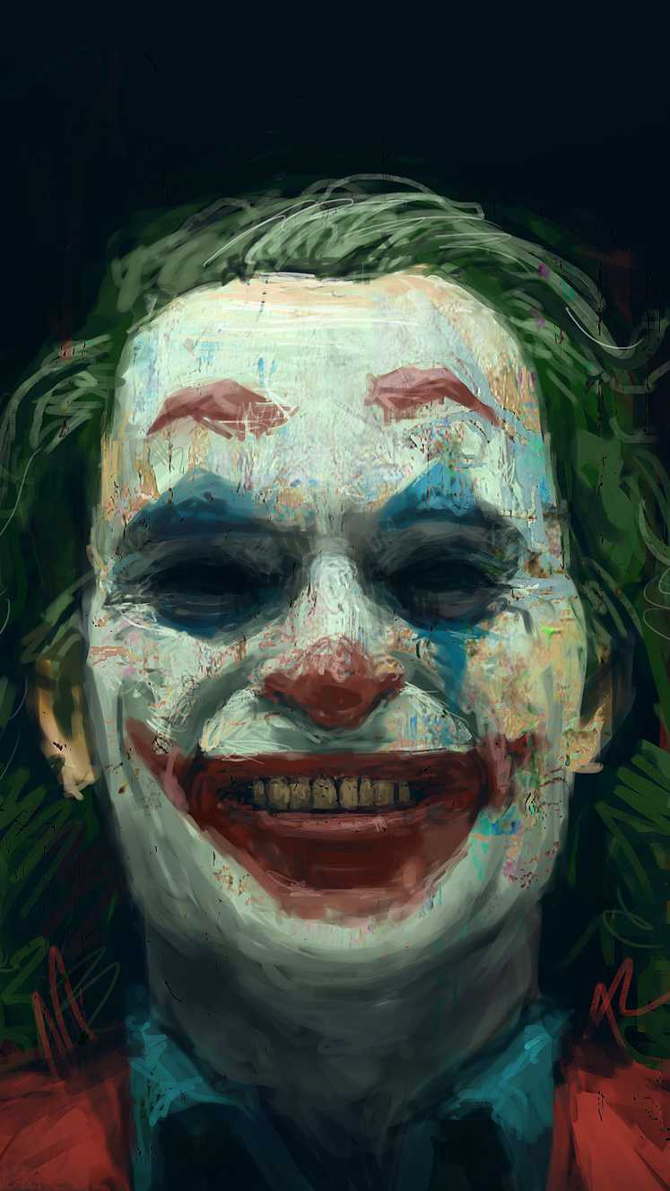 The Joker Crazy Smile iPhone Wallpaper