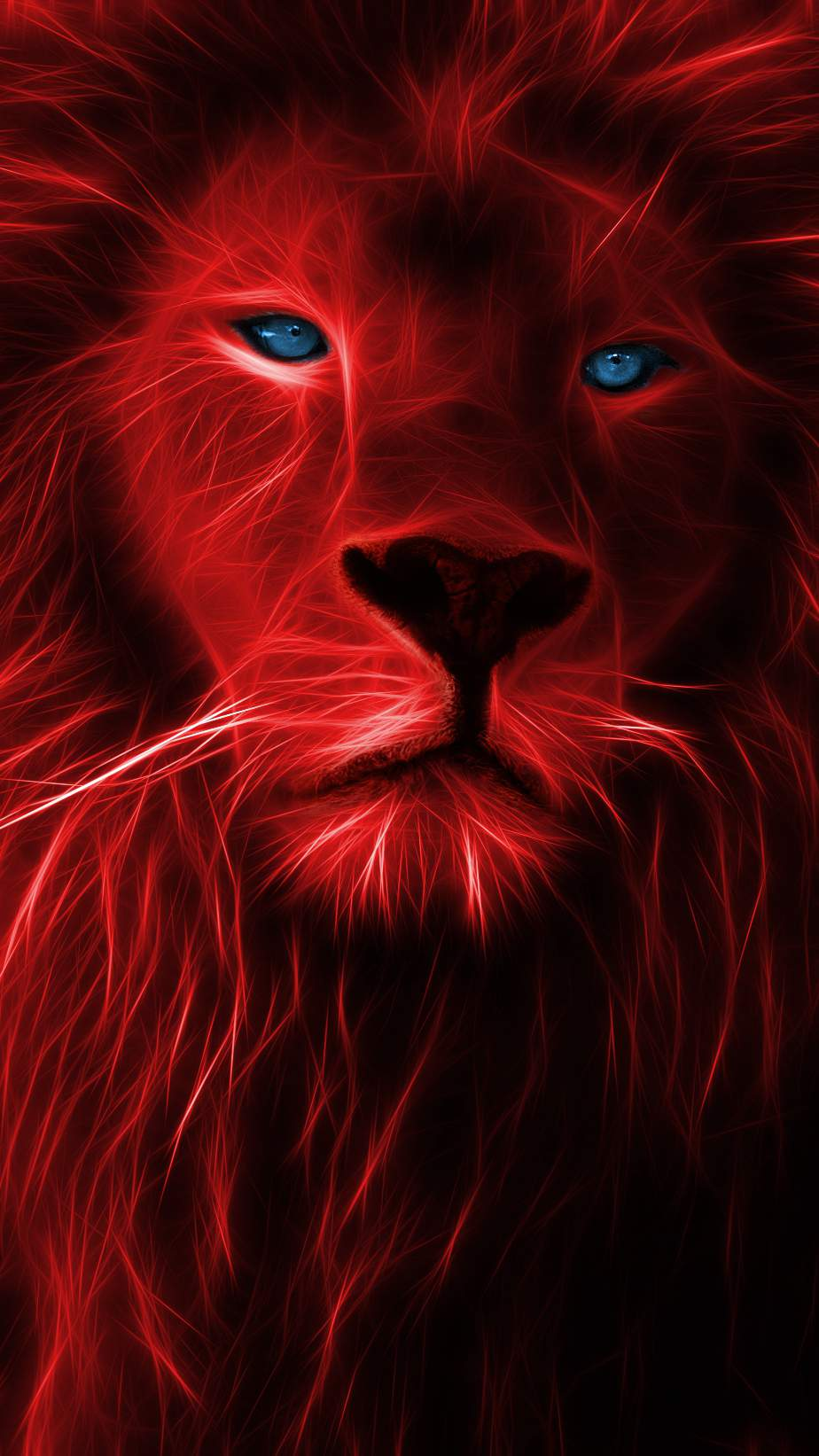 The Lion King Fractalized iPhone Wallpaper