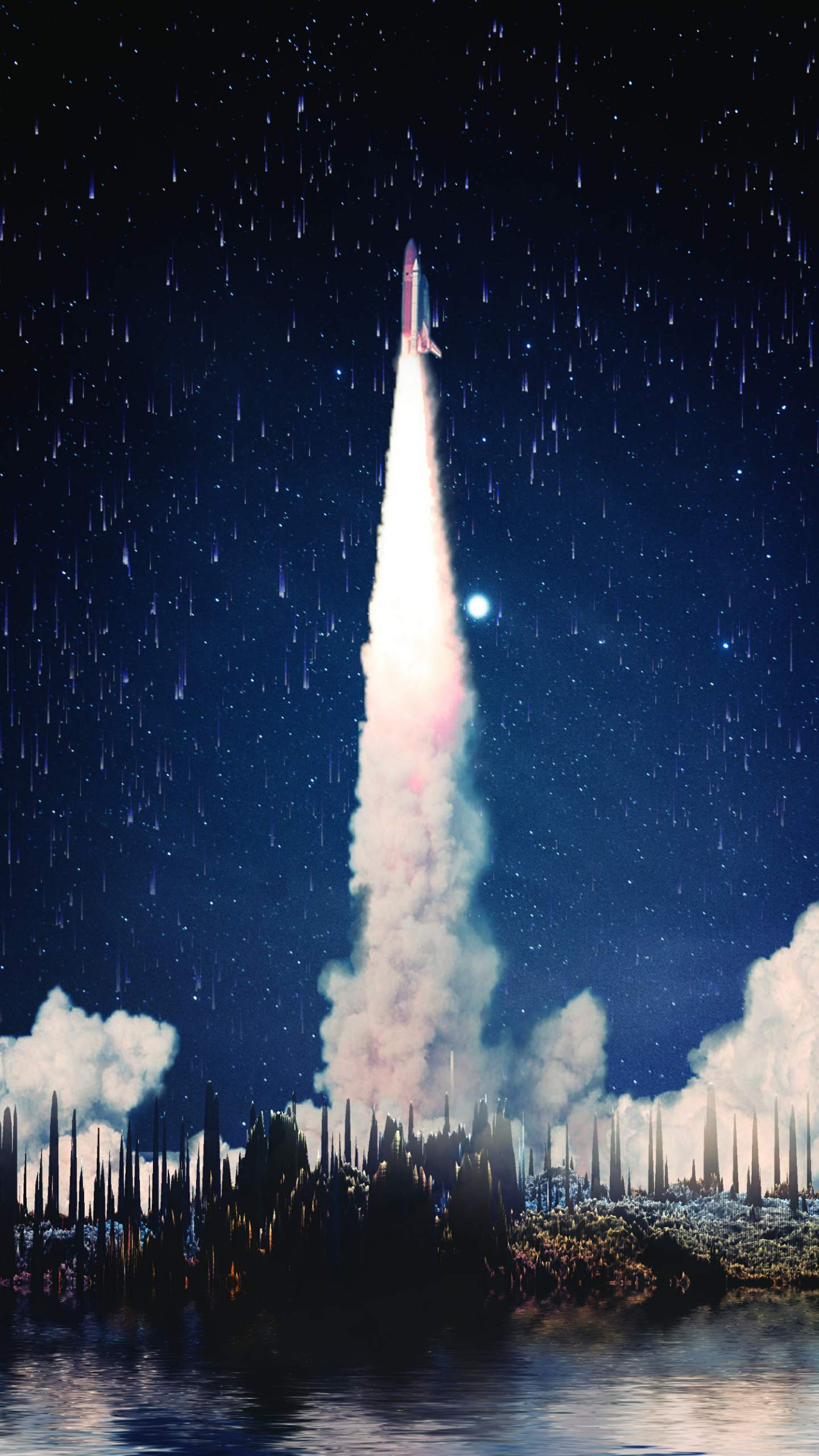 The Rocket Launch iPhone Wallpaper