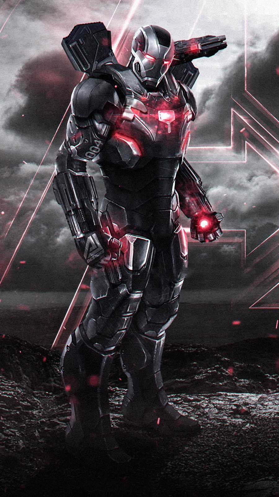 The War Machine Endgame iPhone Wallpaper
