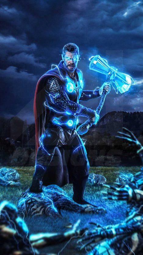 Thor stormbreaker avengers endgame iphone wallpaper - Thor art wallpaper ...