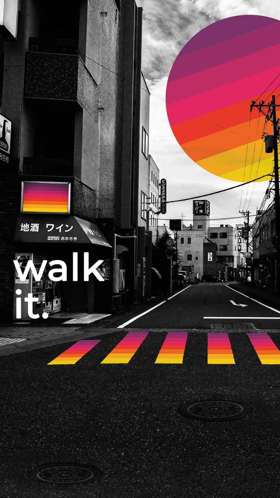 Walk iPhone Wallpaper