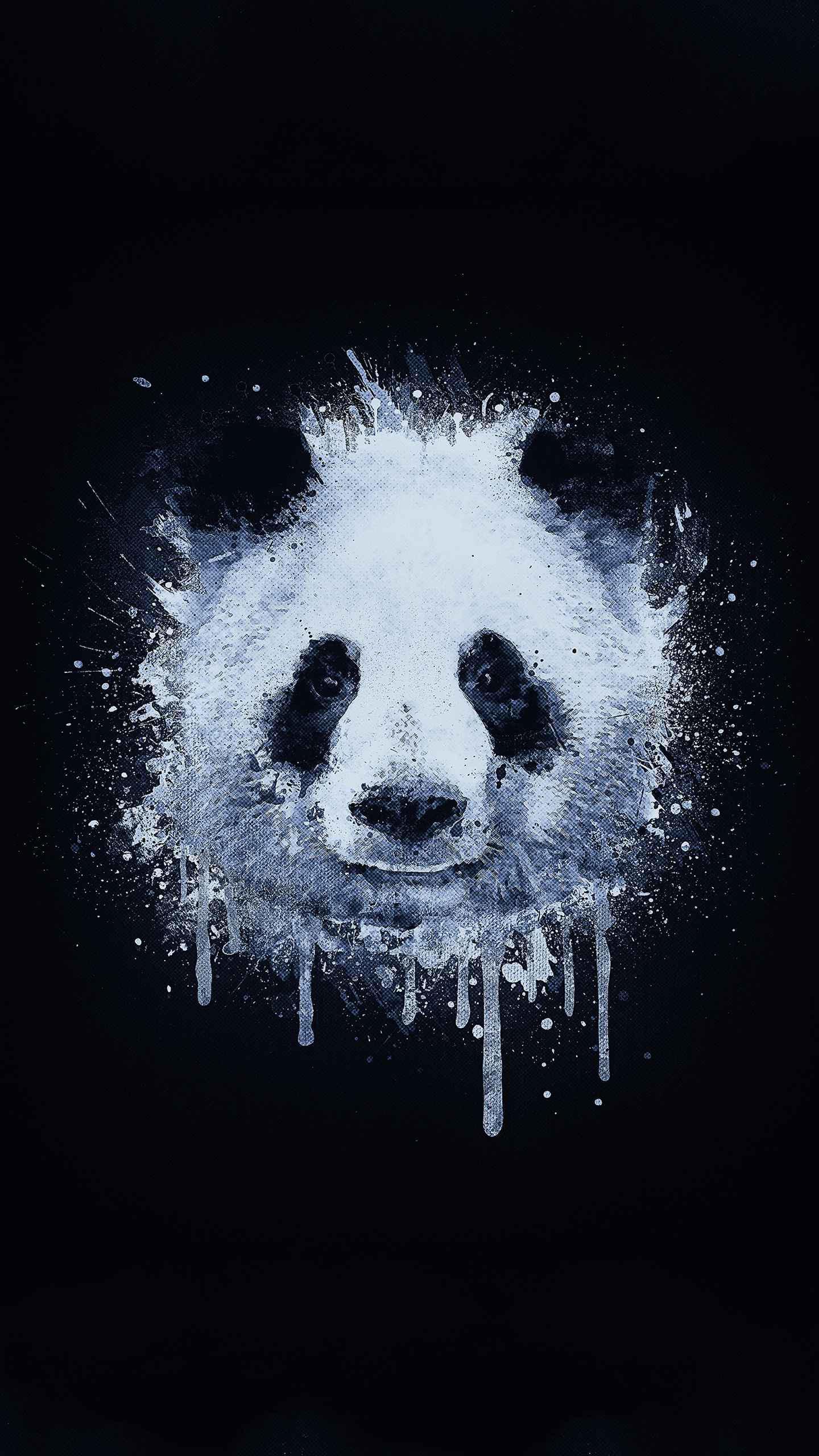 Watercolor Panda iPhone Wallpaper