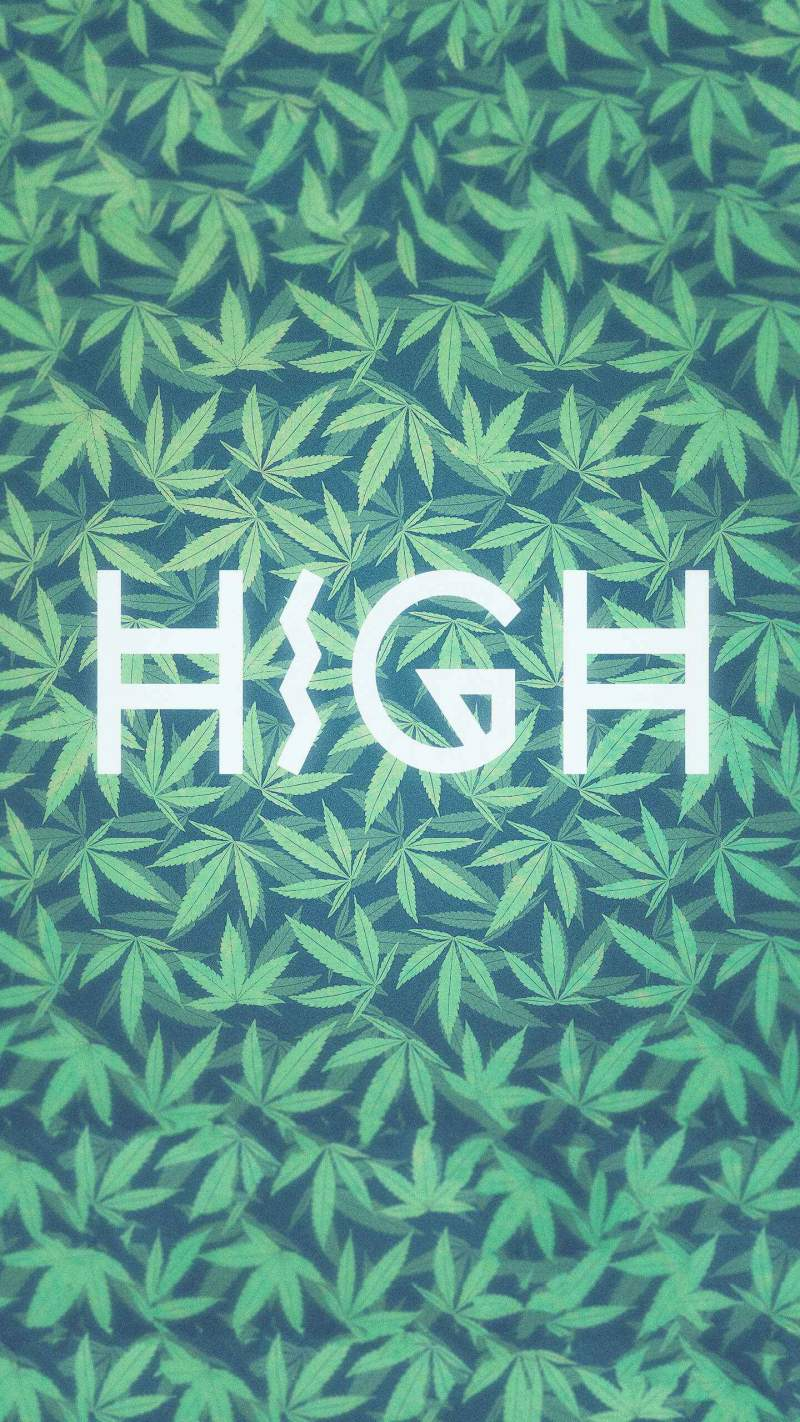 Weed High iPhone Wallpaper