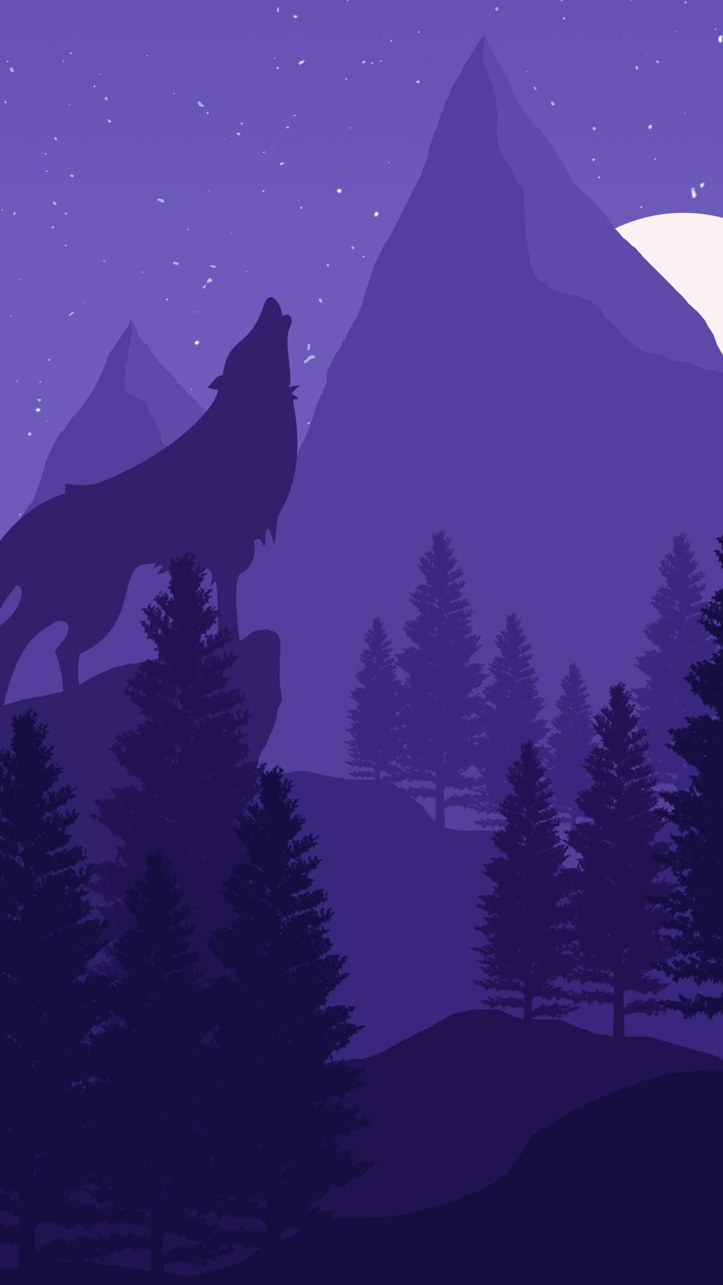 Wolf Mountain iPhone Wallpaper