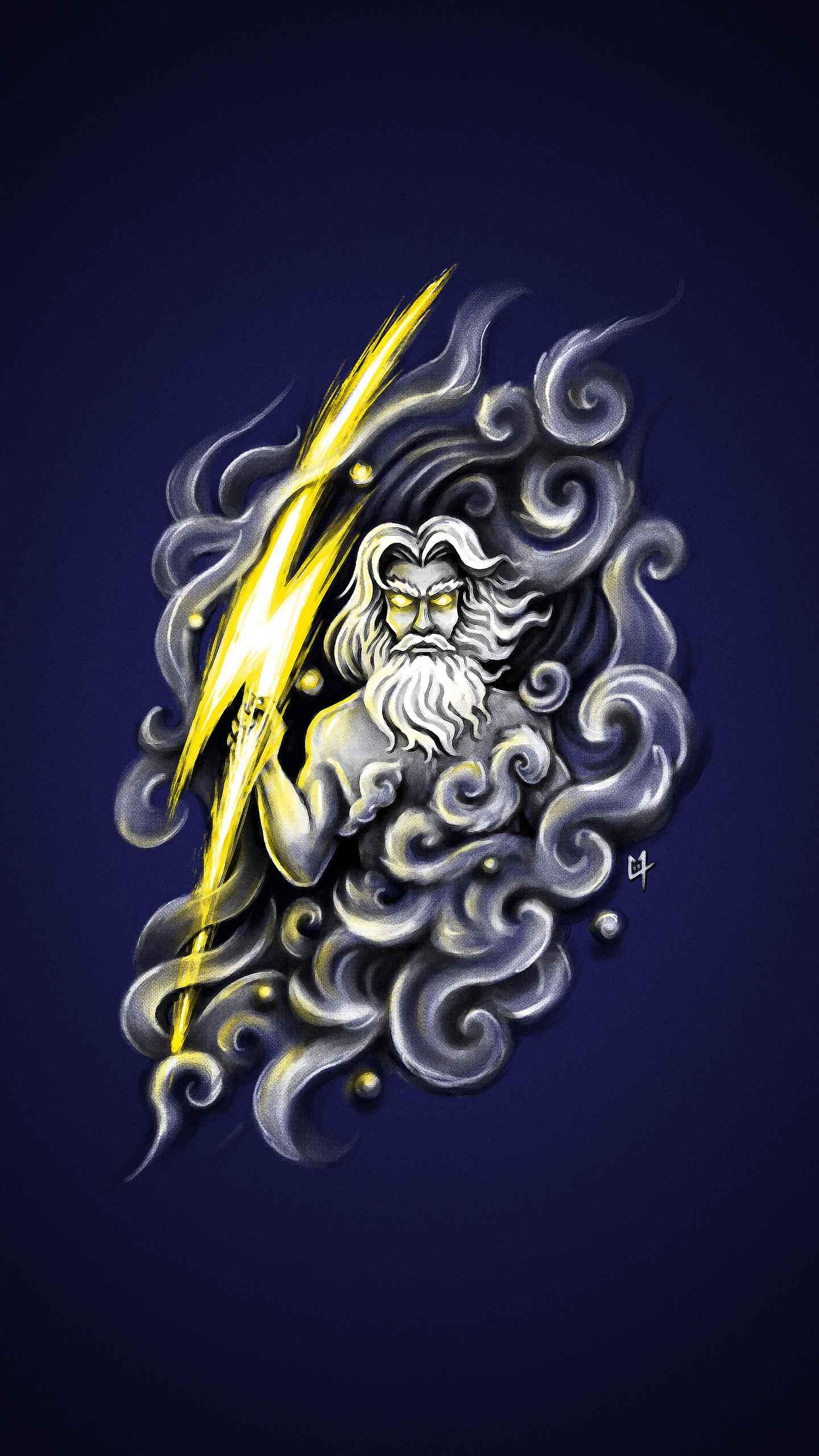 Zeus Art iPhone Wallpaper