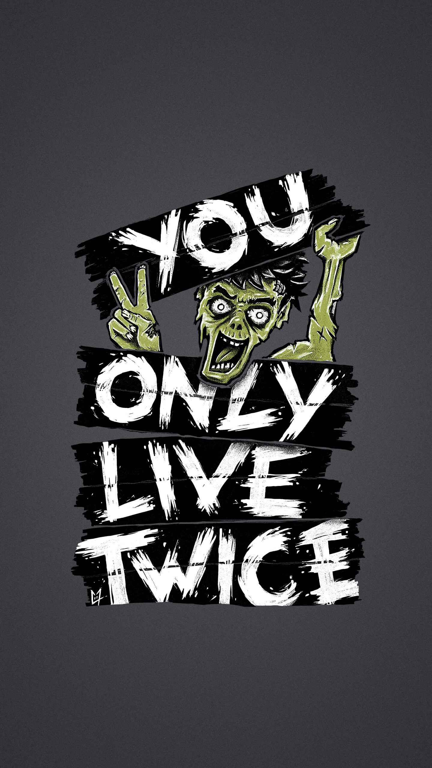 Zombie Life iPhone Wallpaper