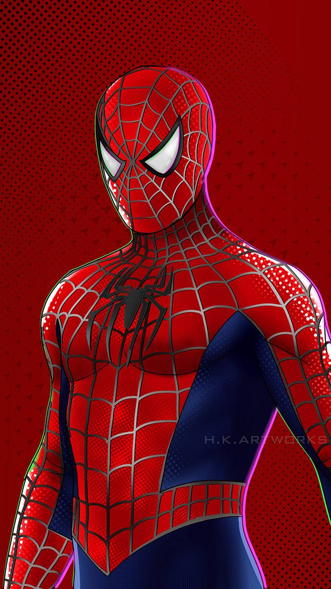 3D Spiderman iPhone Wallpaper